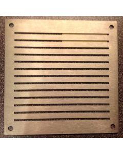 luchtrooster inox met sleuven 14x14cm
