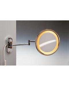 Windisch vergrootspiegel muur licht x2 croom Ø230mm 135x60x475mm