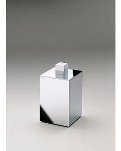 Windisch watjeshouder +deksel vierkant laag 60x60xH110mm croom