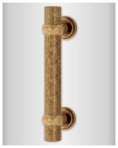 Quincalux voordeurgreep zwaar/recht L=280mm as=210mm oud messing