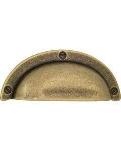 Wallebroek schelpgreep 94x38mm brons