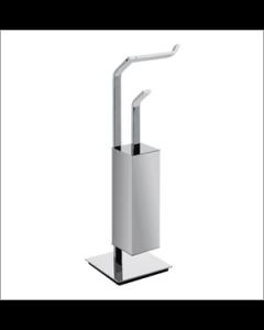Pombo toiletrol+wcborstel houder staand SENSIS croom