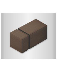 Quincalux meubelknop 701 20mm havanna smoke=alu brons look