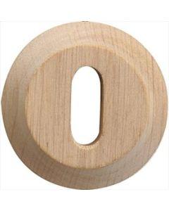Wallebroek sleutelplaat 45mm CHARME hout beuk