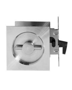 Didheya wc-slot voor schuifdeuren afdekplaat vierkant inox mat