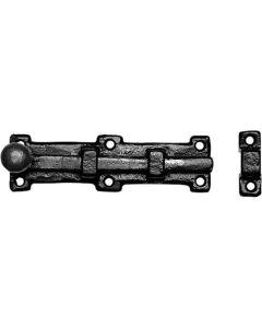 Kirkpatrick deurschuif/grendel knop 303x54mm smeedijzer zwart