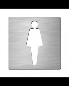 Serafini picto vierkant 175x175mm inox dames