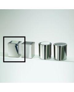 Decor Walther tafelvuilbak vierkant tuimeldeksel 12x12xH16cm inox poli