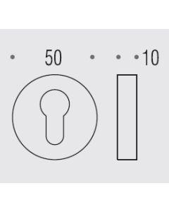 Colombo cylindersleutelplaat Ø50mm ETRO messing gelakt