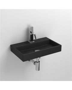 Clou lavabo/fontein MINI WASH ME +kraangat B38xD24xH6cm mat zwart