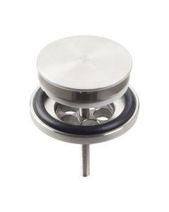 Clou plug voor lavabo met afdekkap MINI WASH ME inox mat