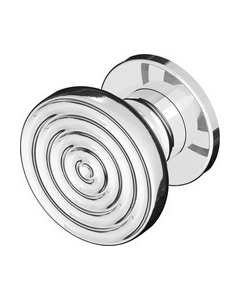 Bonomi GBT meubelknop 30mm FLUTED LINE nikkel poli