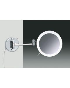 Windisch vergrootspiegel muur LED direct 2 arm x5 Ø200xL400mm croom