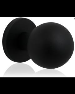 GPF voordeurknop bol 63mm op rozet 63mm zwart