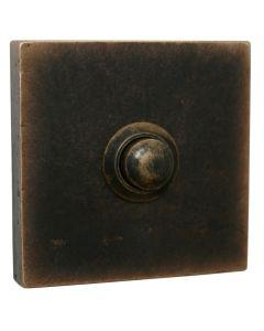 Fama deurbel SQUARE retro 55x55mm donker brons