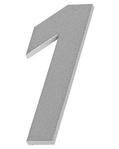 """Albo huisnummer """"1"""" C32/50/1,5mm inoxlook p"""