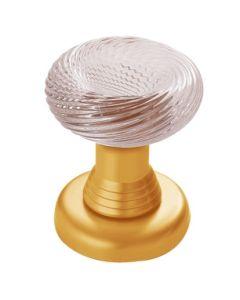 Salice Paolo deurknop vast ARUM messing blinkend+kristalglas