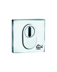 Wallebroek veiligheidsslplaat vierkant enkel buitenzijde nikkel mat PVD