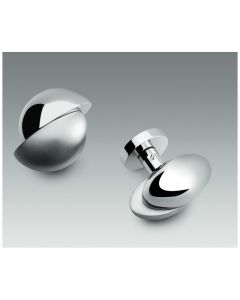 Colombo deurknop ETRO vast rozet rond Ø50mm croom poli+mat