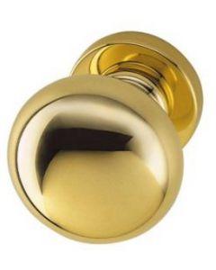 Valli deurknop vast 70mm messing poli